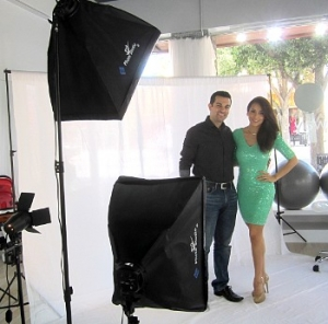 Comfortable in front of the camera and in preparing people to work in front of a camera or a crowd, model Sindy Buezo and her husband Jonathan Hess are training models and actors.