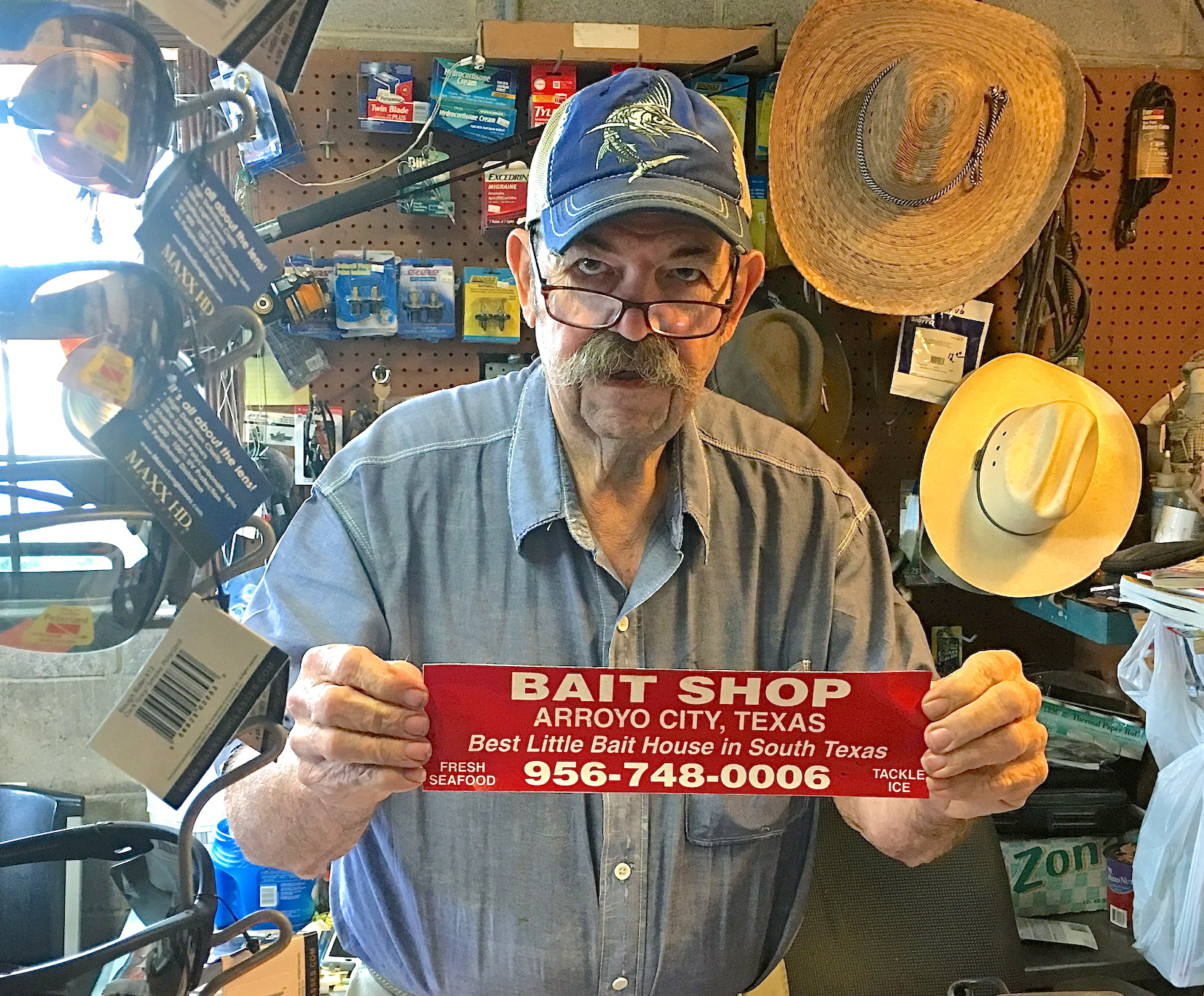 Jerry Cochran, Owner Of The Bait Shop In Arroyo City, Says That A Customer