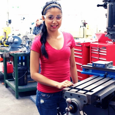 STC Precision Manufacturing Technology student Jessica Adame