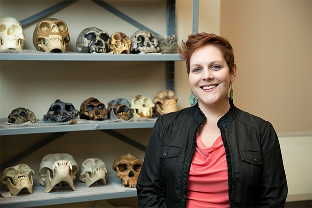 Sarah M. Rowe, assistant professor in the UTRGV Department of Sociology & Anthropology(UTRGV photo by Paul Chouy)