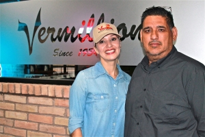 Owners Iselle and George Perez opened their second Vermillion Restaurant, this one in Harlingen.
