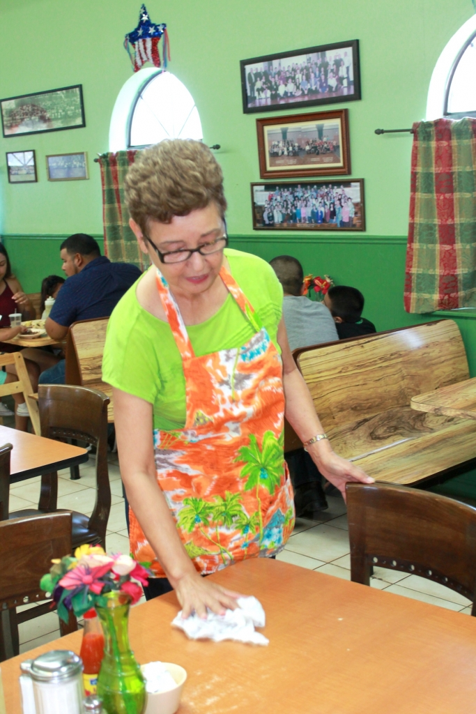 Jovita Chase, owner of Brownsville Coffee Shop No. 2, still does work all over the restaurant when needed. (VBR)