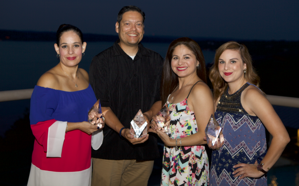 The City of McAllen Office of Communications receives three awards from the Texas Association of Municipal Information Officers. (photo by McAllen Office of Communications)