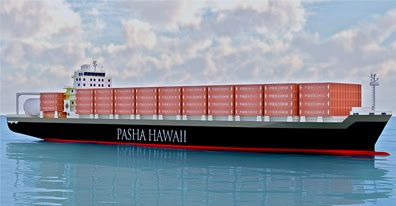 Rendering of Pasha Hawaii's vessels to be built by Keppel AmFELS. (Photo by Pasha Hawaii)