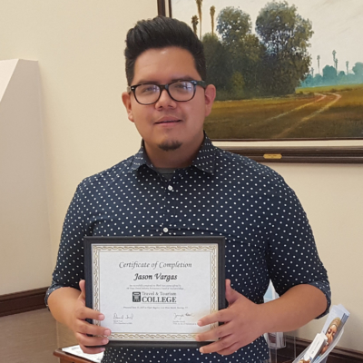 Weslaco Visitor Center director Jason Vargas recently earned Tourism Executive certification. (photo Weslaco Area Chamber of Commerce)