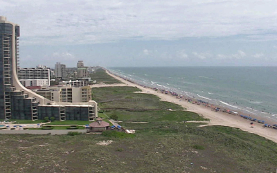 Several web cams offer views of the Gulf beach at South Padre Island. (Courtesy of South Padre Network)