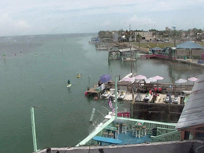 A web cam at Louie's Backyard captures activity on the Laguna Madre. (Courtesy of South Padre Network)