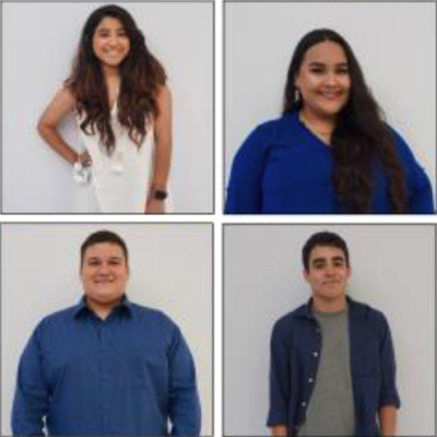 Mission EDC interns Miriam Montelongo, Stephany Lopez, Jared Stephens and Jesus Sanchez (photo Mission EDC)