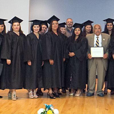 The first cohort of promotores graduate from the South Texas Community Health Worker Training Network. (photo STC)