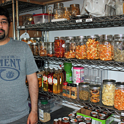 Wicked Good owner Jonathan Hogan added on to his house to create storage space for his growing product line. (VBR)