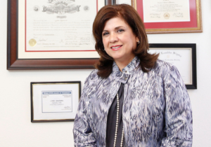 Dr. Lydia López Aguilera, director of the University of Texas Rio Grande Valley/UT Austin College of Pharmacy and clinical associate professor in the UTRGV Cooperative Pharmacy Program, has added another level of expertise with board certification in ambulatory care pharmacy from the National Board of Pharmacy Specialties. (photo by Paul Chouy, UTRGV)