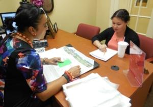 Esmeralda Garza from State Farm – Julian Garza mentors Weslaco East High School student Ashley Neira in a past nCourage program.