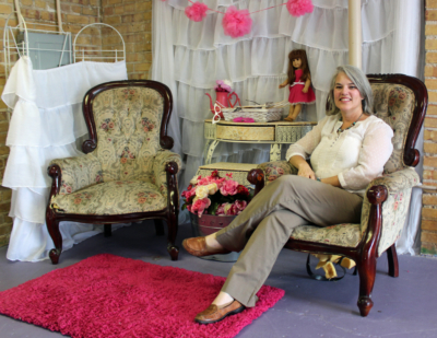 Owner Carrie Fullerton moved Glitzy Glam Parties to downtown Harlingen about a year ago.