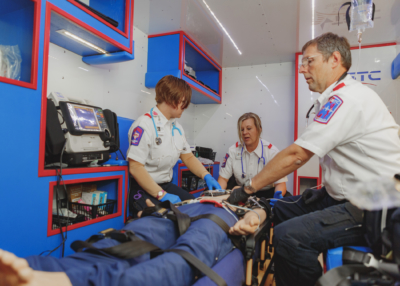 TSTC's EMS Program has received accreditation from the Commission on Accreditation of Allied Health Education Programs. (photo TSTC)