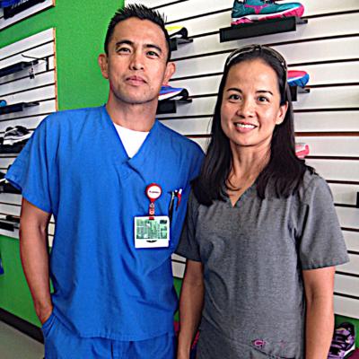 Footworks owners Jun and Edith Ellorimo. (VBR)