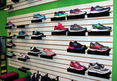 A sampling of the athletic shoes carried by Footworks. (VBR)