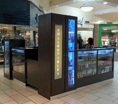 A business kiosk in La Plaza Mall built by de la Garza. (Courtesy)