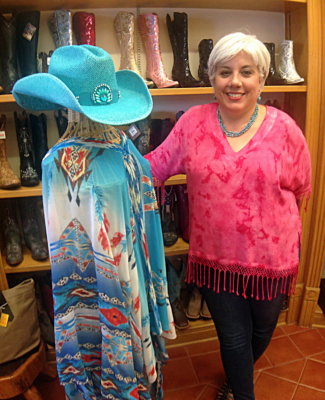 Sandy Pena added a women's boutique to her western wear store.