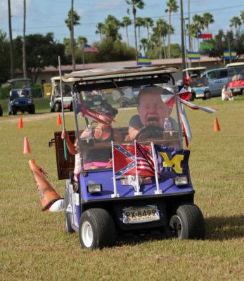 Winter Texans enjoy participating in organized activities like this golf cart race. (VBR)