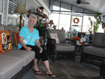 Fun 'N' Sun resident Marilyn Watson expects good service from local businesses. (VBR)