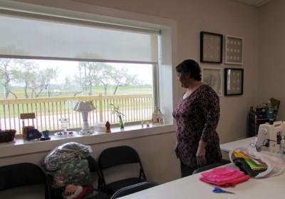 The activity center and dining room at La Jarra Ranch has views of the natural setting. (VBR)