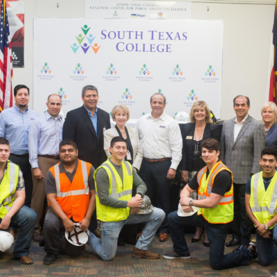 South Texas College and Texas Noble Builders have agreed to a Memorandum of Understanding that will create scholarship opportunities for students over the next five years. (photo STC)