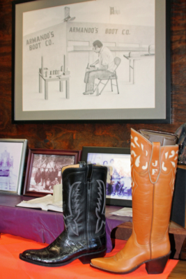Boots on display at Armando's Boots Co. in Raymondville. (VBR)