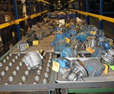 Automotive parts waiting to be shipped to Matamoros for remanufacturing. (VBR)