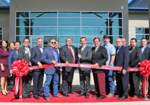 Pharr city officials and guests at a ribbon cutting ceremony for the new South Pharr Development and Research Center. (photo City of Pharr)