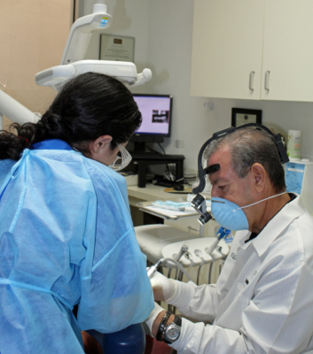 Dr. Juan D. Villarreal working with a patient at Harlingen Family Dentistry. (VBR)
