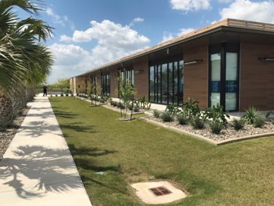 Native plant landscaping gives the La Feria Economic Development Authority building a clean look. (Courtesy)
