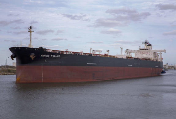 The Nordic Pollux is the longest and widest ship to call on the Port of Brownsville to date. (photo Port of Brownsville)