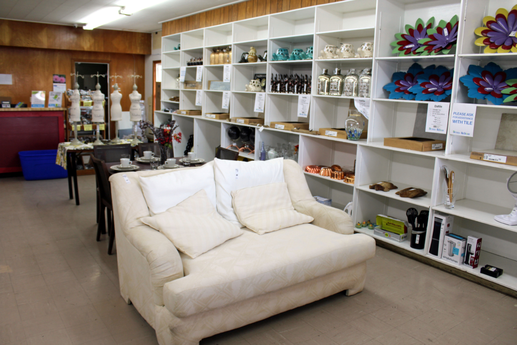Furniture and home décor items on display in the Harlingen ReStore. (VBR)
