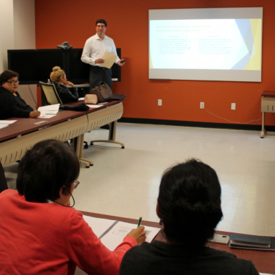 CPA Javier Alacron discusses tax reform with small business owners.