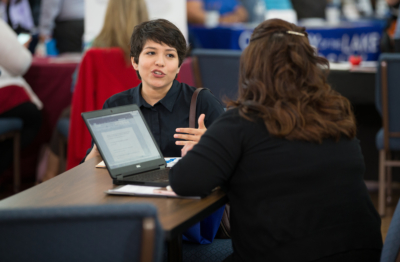 In addition to regular UTRGV campus job fairs, employers can now connect with UT students from anywhere online via UT Connects Talent. (photo by David Pike, UTRGV)