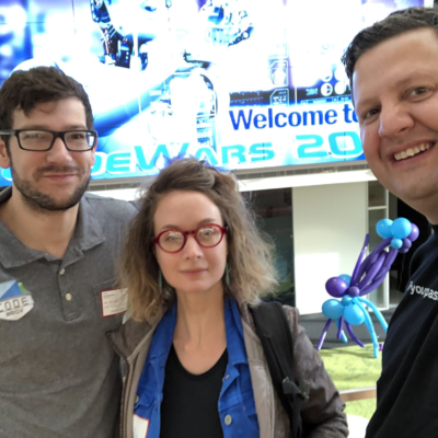 Representatives from CodeRGV attend CodeWars in Houston. CodeRGV is currently planning events to help local students prepare for next year's event. (photo CodeRGV)