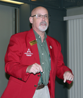 Downtown merchant and Harlingen Chamber ambassador Victor Leal urged merchants to participate in chamber events. (VBR)