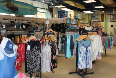Island Native Surf Shop sells skateboards and bicycles as well as surfboards and stand-up paddle boards. (VBR)