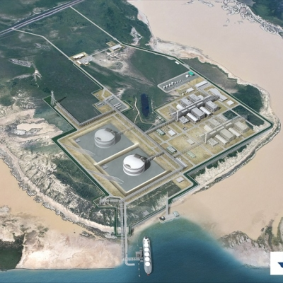 Rendering of Texas LNG's planned liquefaction terminal at the Port of Brownsville.