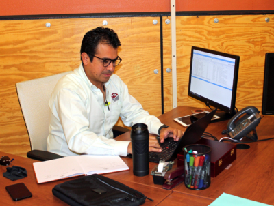 Ghery Valladares is launching his business, Fenix Logistics Solutions, with the help of the center's incubator program. (VBR)