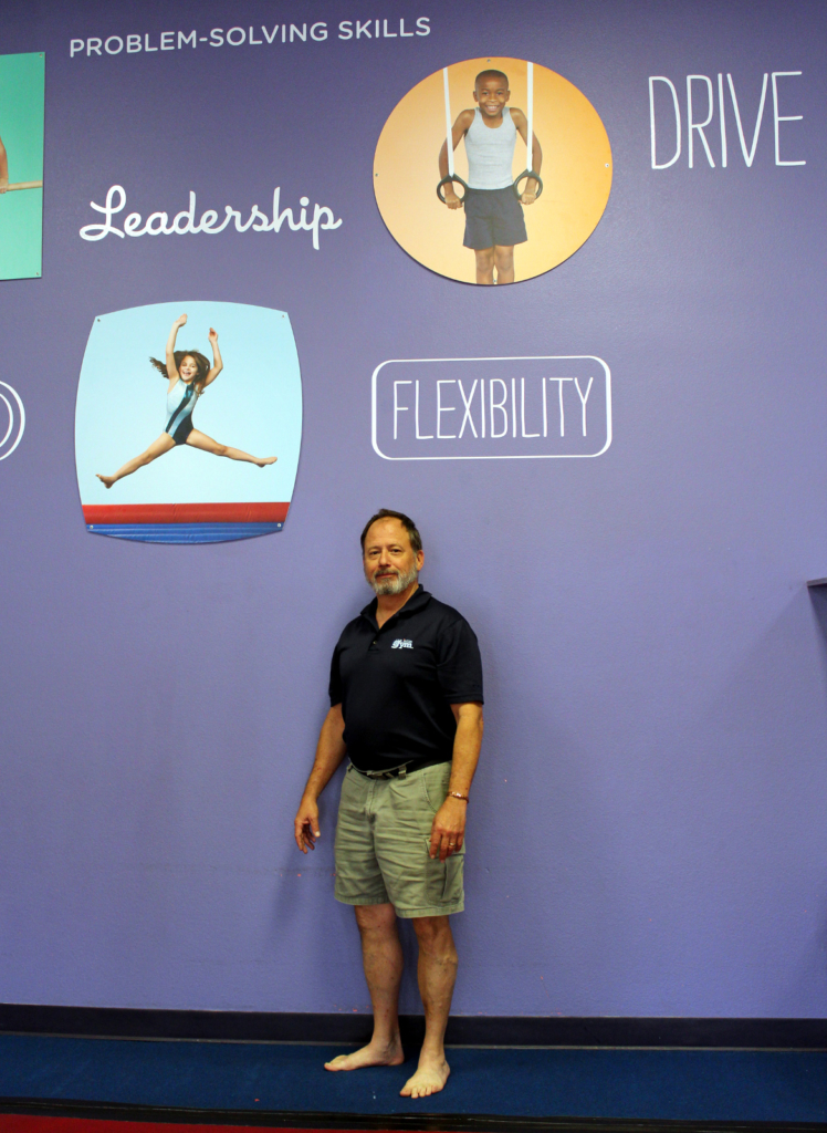 The Little Gym owner Alton Britton incorporates learning into the gymnastics routines. (VBR)