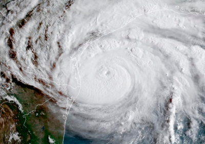 Hurricane Harvey narrowly missed the Valley in 2017. (National Weather Service)