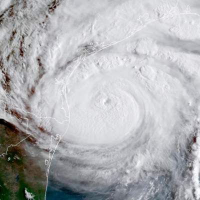 Hurricane Harvey narrowly missed the Valley in 2017 as it churned its way along with Texas Gulf Coast. (National Weather Service)