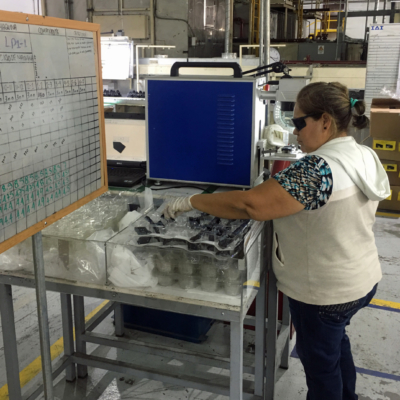 IAI's five Matamoros plants provide manufacturing services, such as laser etching, for American companies. (Courtesy)