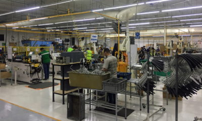 Assembly of power steering hoses is amanufacturing service that IAI offers to American businesses. (Courtesy)