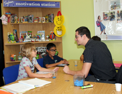 A low teacher-to-student ratio is one of the hallmarks of the Sylvan Learning Center. (VBR)