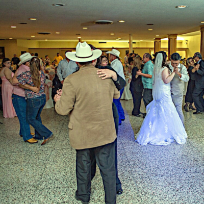 A wedding reception in full swing at the historic Echo Hotel in Edinburg. (Courtesy)