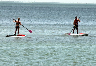 Stand-up paddleboarding is growing in popularity on the Laguna Madre. (VBR)