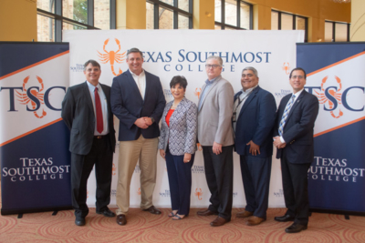 Texas Southmost College announces the launch of an Industrial Scaffolding program during a press conference on June 7 at the TSC Performing Arts Center. (photo STC)
