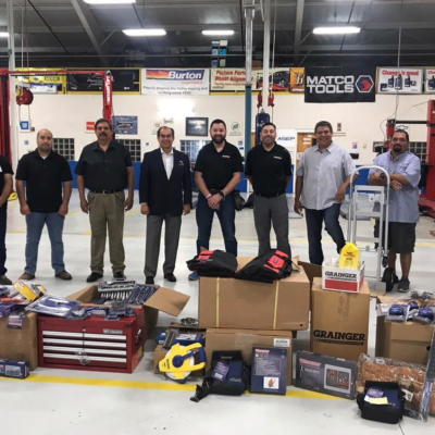 Grainger Industrial Supply donated $6,000 worth of tools to assist students in their career choices at South Texas College. (photo STC)